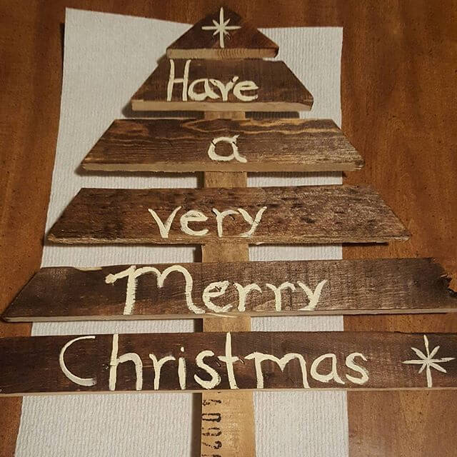 Pallet decoration plans for Christmas or graduation: