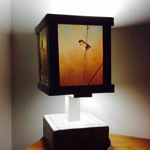 elegant pallet lamp for the bedroom