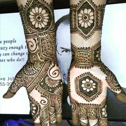full front hand and arm mehndi design for kids in 2018