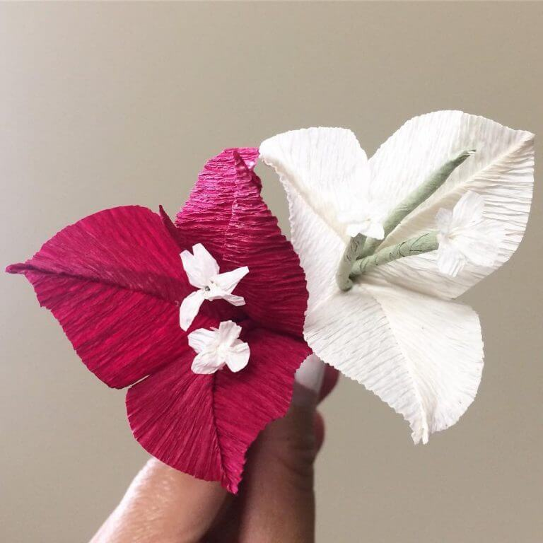 Halloween themed Paper Flower
