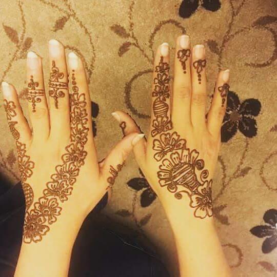 Creative Backhand mehndi designs on Wedding