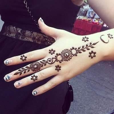 Finger Back Hand Mehndi Designs