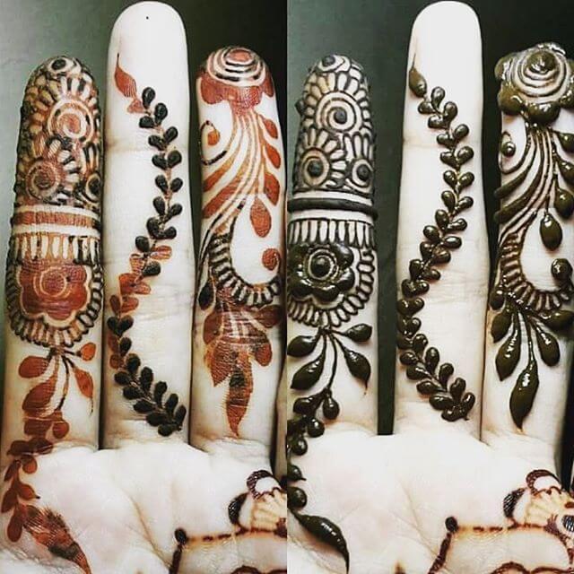 Beautiful finger Mehndi Designs for Kids 2018