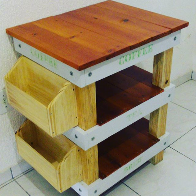 Pallet shelves and racks, with rustic, patina or even new wood
