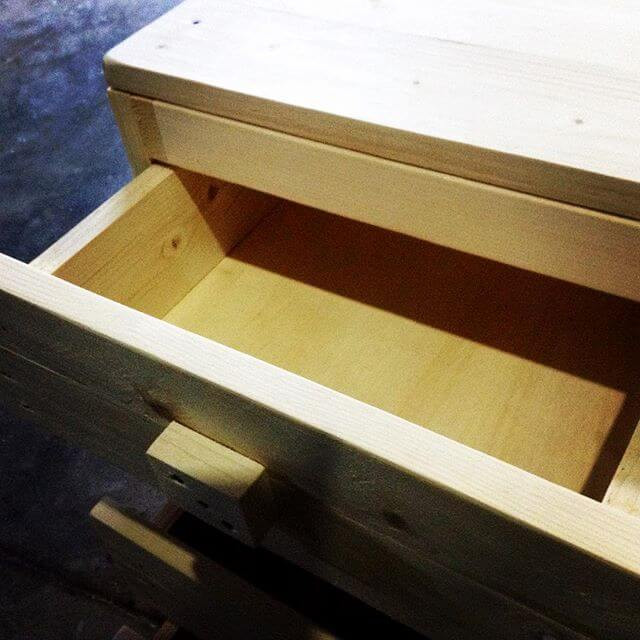 a compact pallet drawer
