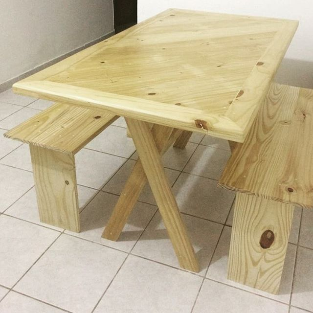 DIY Pallet table, easy to build, handy, and beautiful