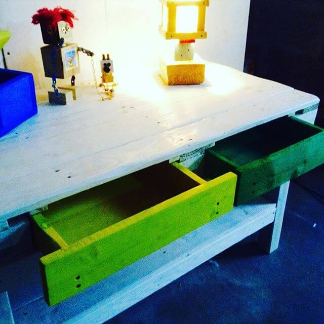 Kid's colorful Pallet Study table
