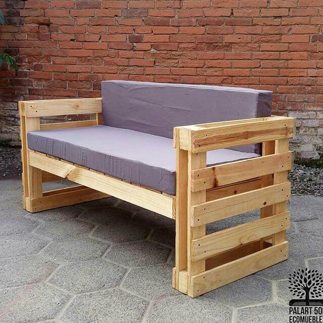 beautifully designed pallet sofa