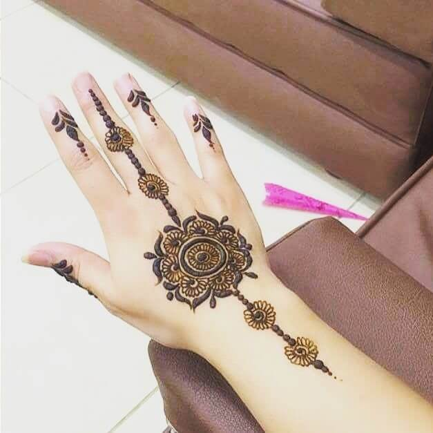 simplest mehndi design for beginners