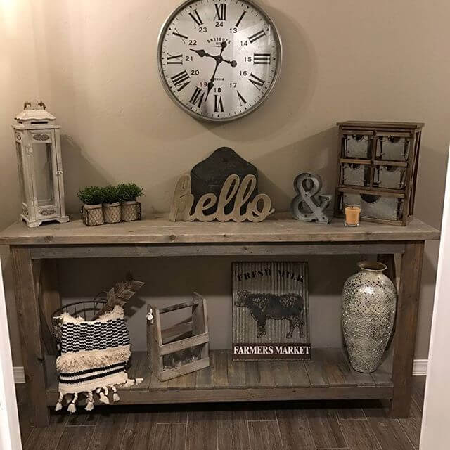 Beautiful and easy building pallet centerpiece ideas