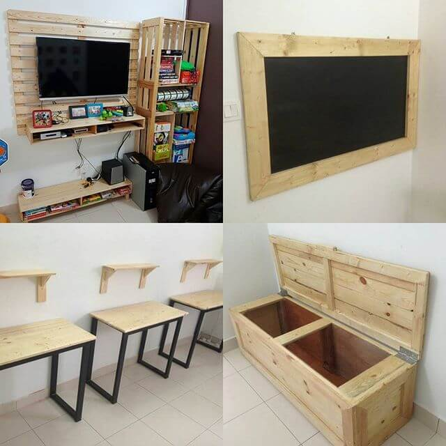 beautiful pallet storage ideas