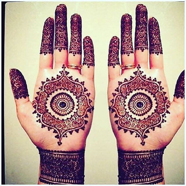 palm mehandi design