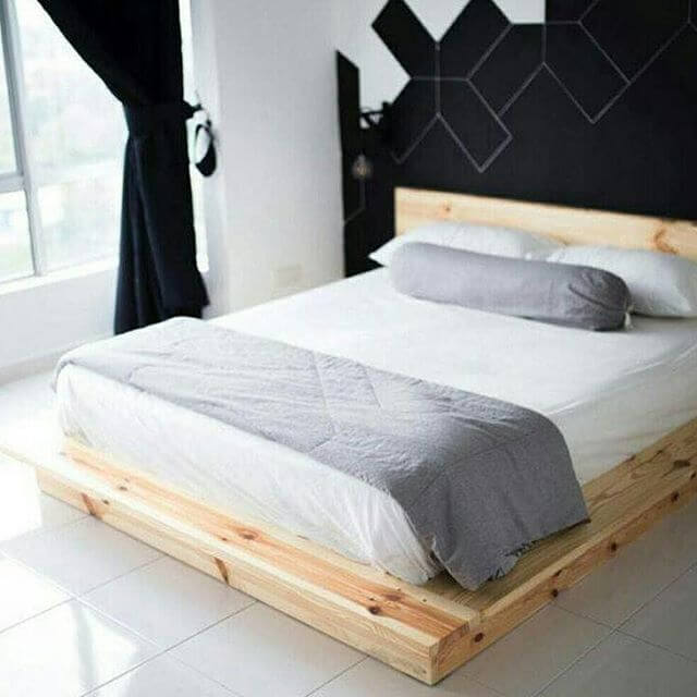 easy to make pallet bed