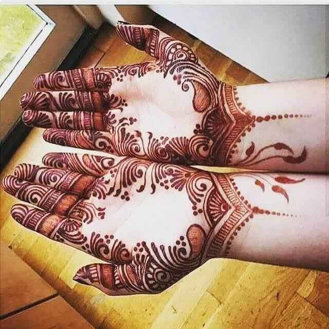 elegant mehndi design for both hands