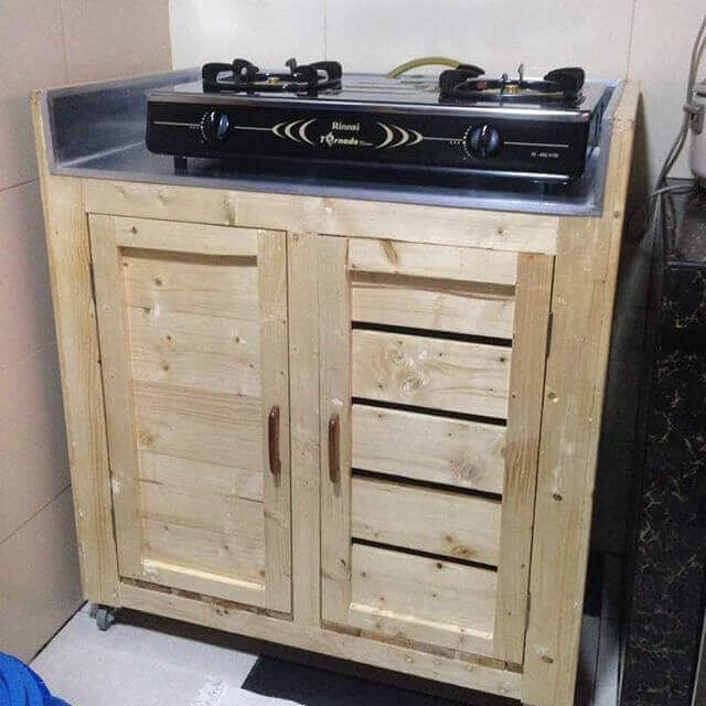 Kitchen Island From wooden Pallet