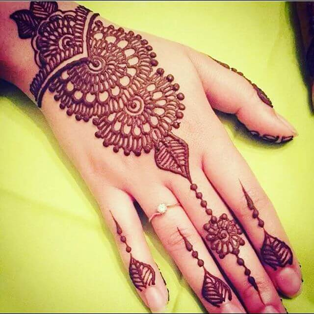Easy Fingers Mehendi Designs