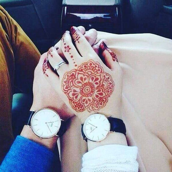 couple mehndi designs 2018