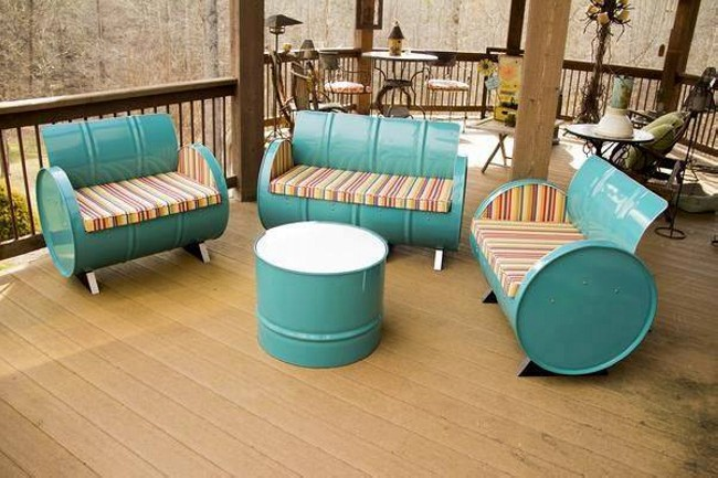 Single  Bed Seat - Easiest Way To Recycle 55 Gallon Metal Drums