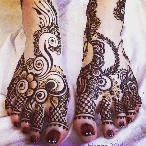 beautiful and classy designs for feet