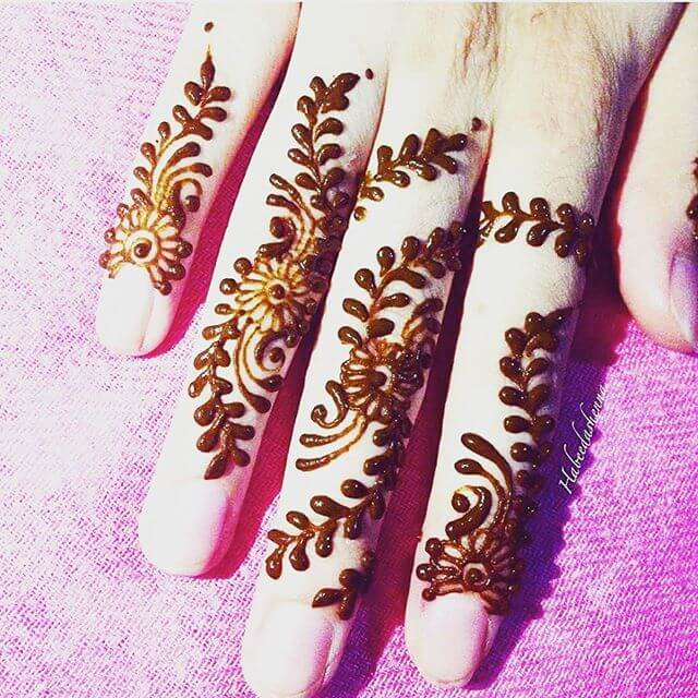 fingers mehandi design 2018