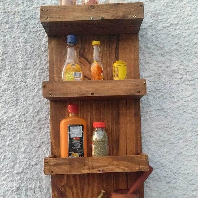 Outdoor wall shelf ideas