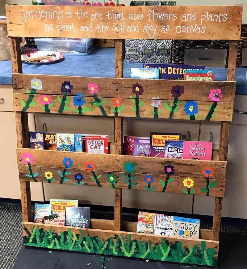 pallet bookshelf for sale