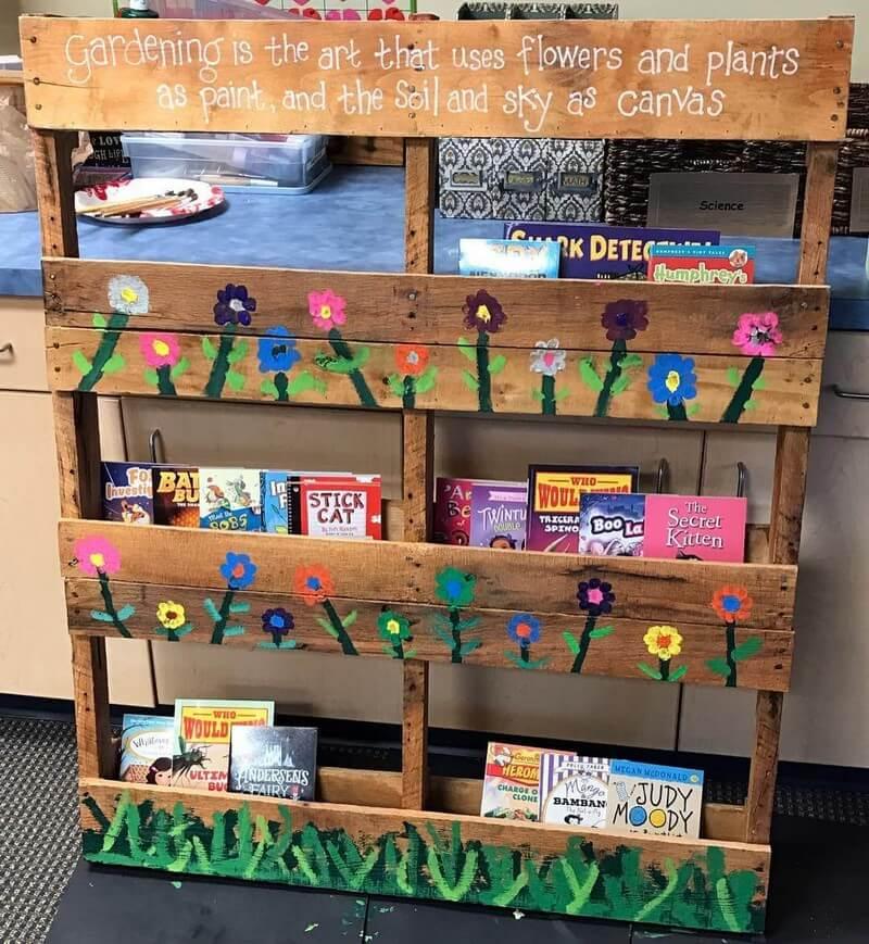 pallet bookshelf for sale