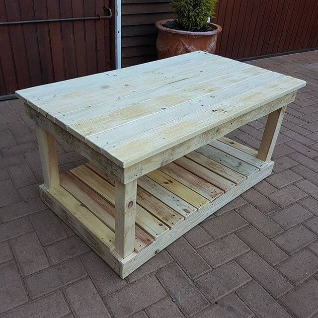 Compactly sized pallet tables