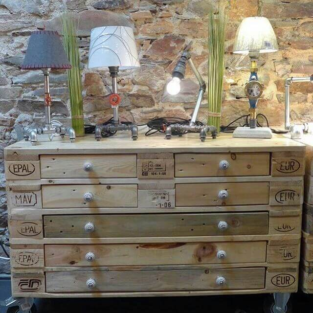 beautiful pallet cabinet