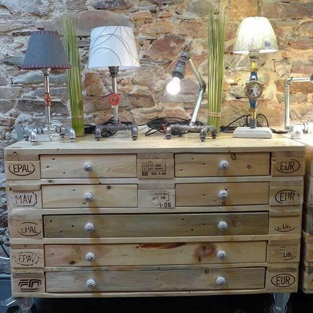 beautiful pallet cabinet