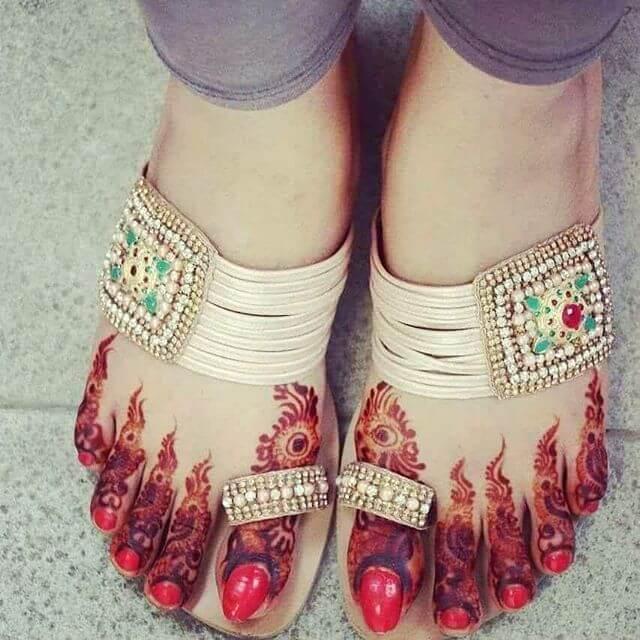 Popular Arabic styles for Feet Ornament