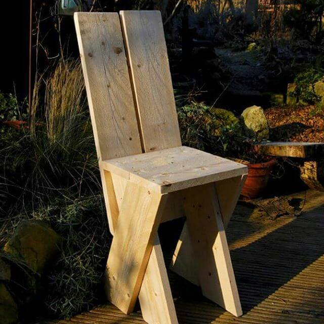 beautiful pallet chair for kids
