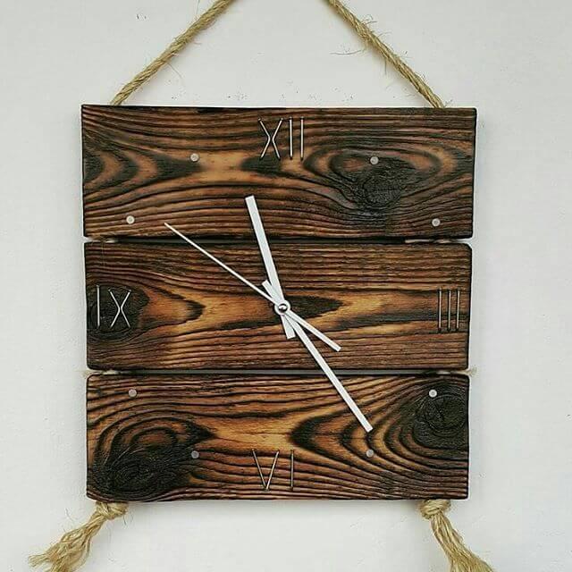 pallet round clock