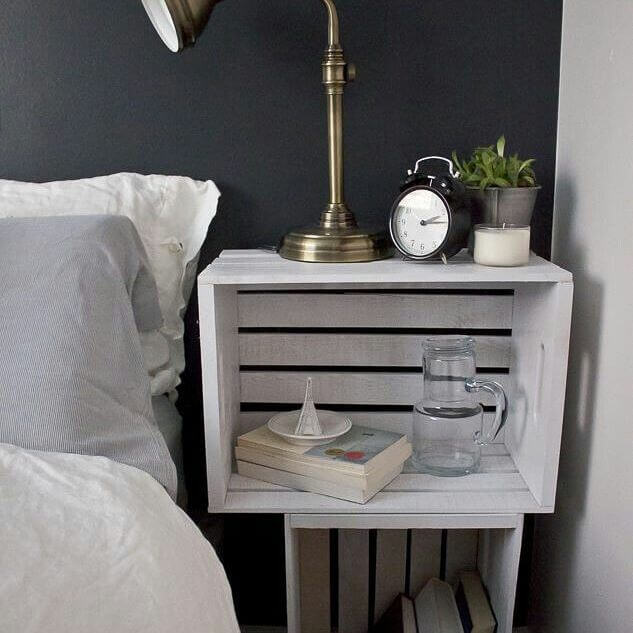 compact pallet side table