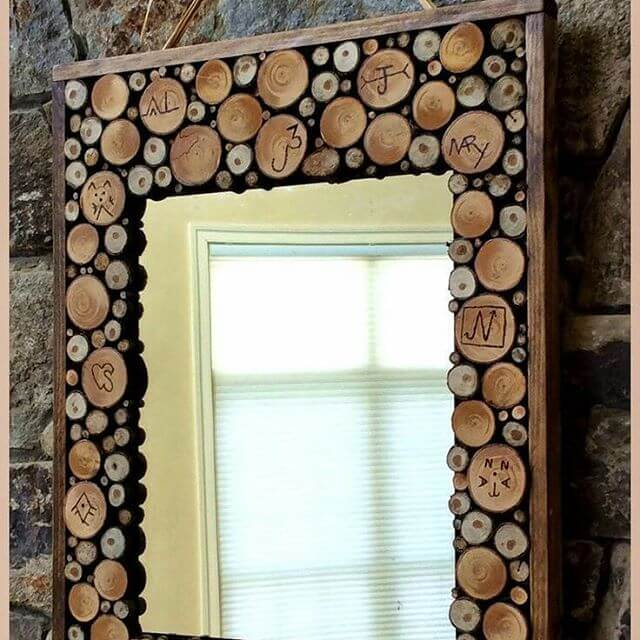 beautiful pallet outdoor mirror