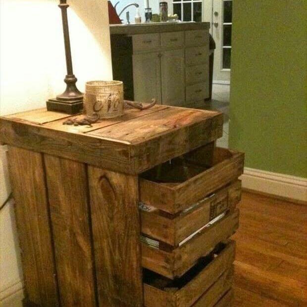 beautiful pallet drawer