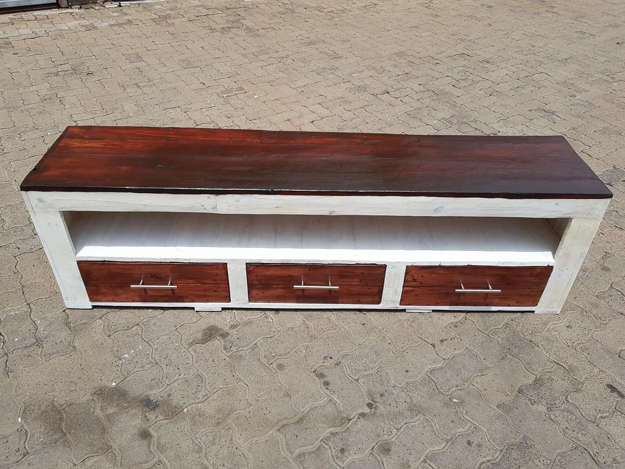 The  unique TV cabinet design: