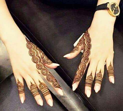 simplest mehandi design