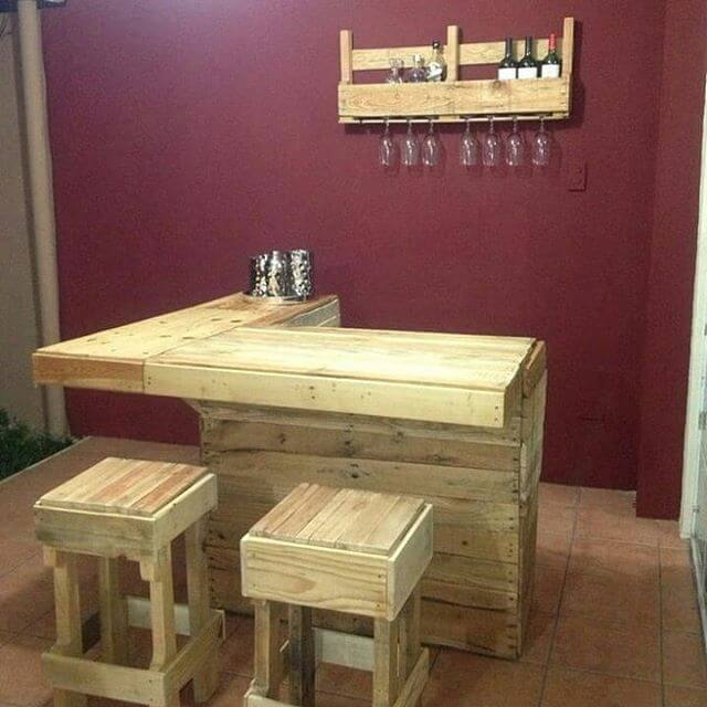 Kitchen Island From wooden Palle