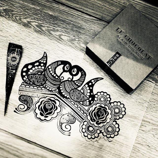 mehndi Sketch