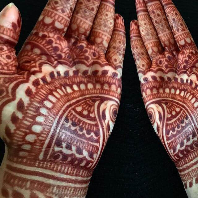 Bridal designs for mehndi
