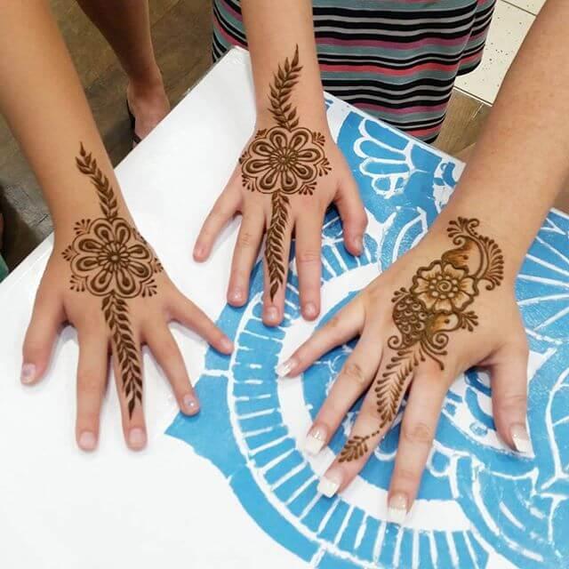 simple design of mahndi