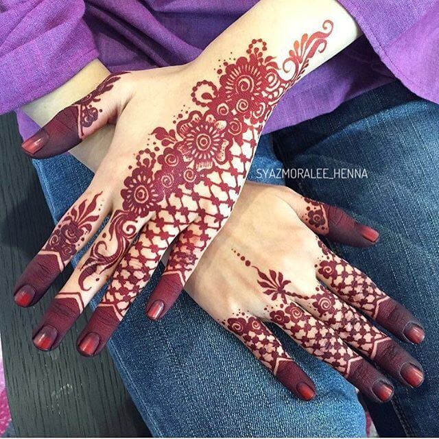 2018 Latest Mehndi Designs For Hands Sensod