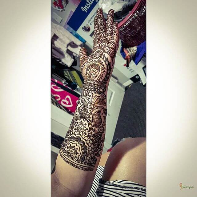 Bridal latest Mehndi design