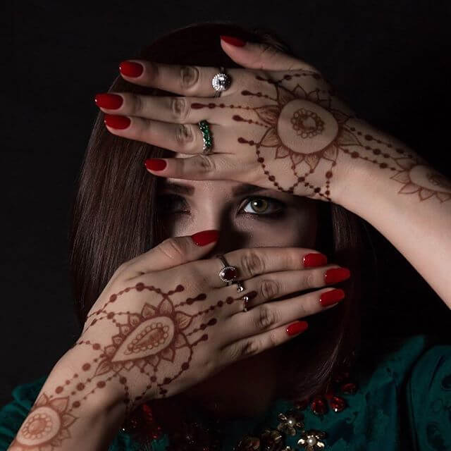 full handa mehndi design