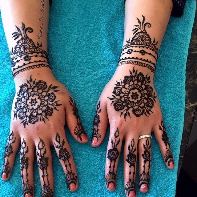 Floral Mehndi Design for bridal