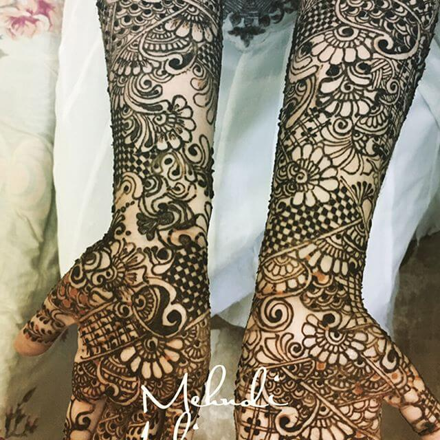 full hand and arm Mehndi Design