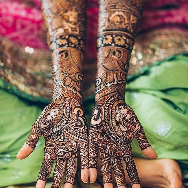 full hand detailed Mehndi Design