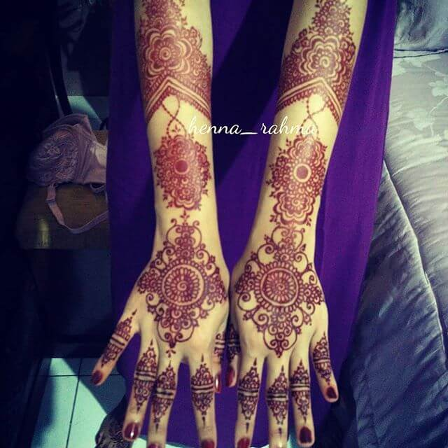 full hand and Arms Mehndi