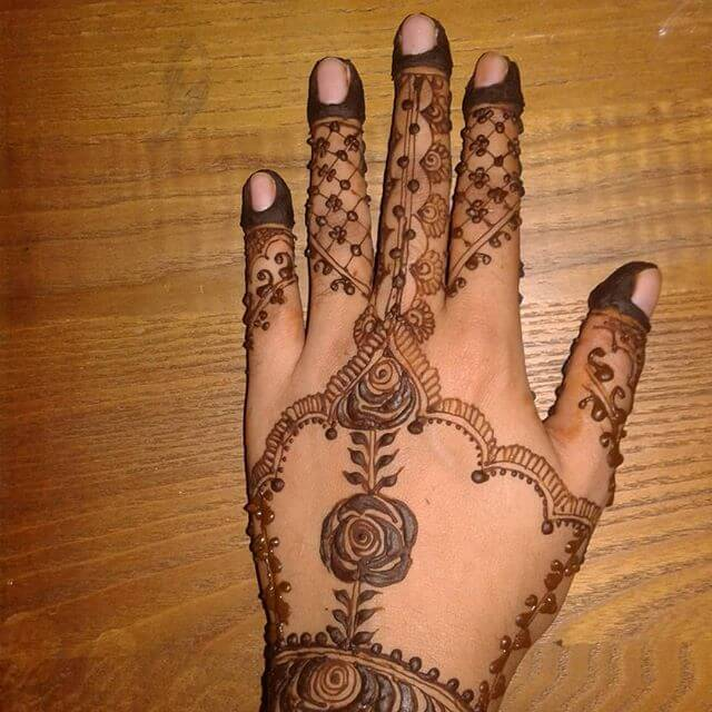 easy design of henna